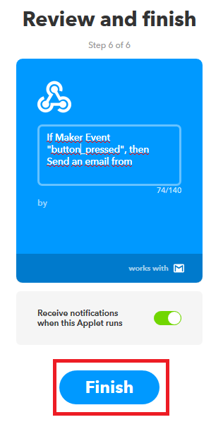 Ifttt if webhooks then +that gmail settings finish 1.PNG