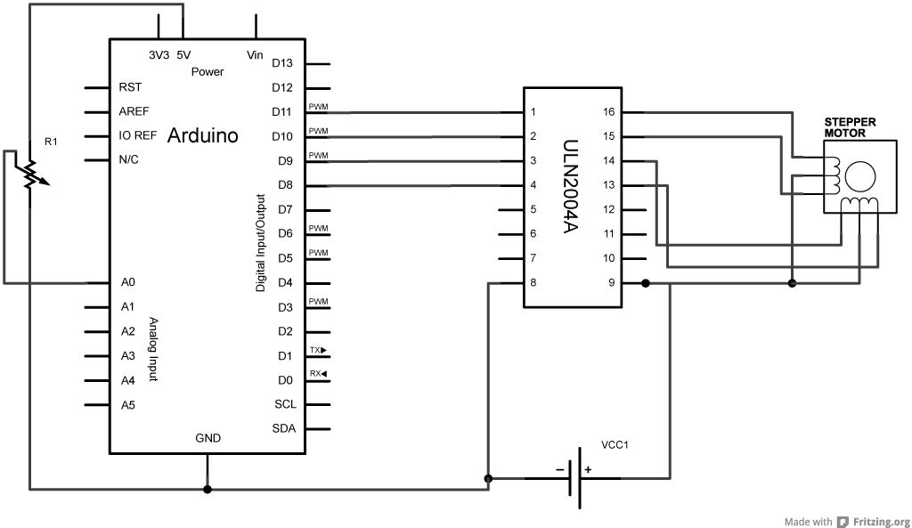 metal halide wiring schematic arduino                stepper one revolution                                        arduino                stepper one revolution